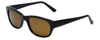 Reptile Designer Polarized Sunglasses Slevin in Black with Gold Mirror Lens