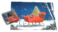 Holiday Christmas Theme Cleaning Cloth, Starry Night