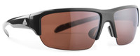 Adidas Sunglasses Kumacross Halfrim in Shiny Black & LST Polarized Silver Lens