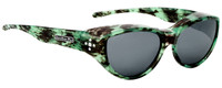 Jonathan Paul® Fitovers Eyewear Medium Chic Kitty in Emerald Demi & Gray CK005S