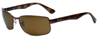 Ray-Ban Polarized Designer Sunglasses in Brown with Amber Lens RB3478-014/57
