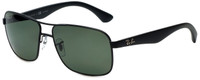 Ray-Ban Polarized Designer Sunglasses in Matte Black with Grey Lens RB3516-006/9A