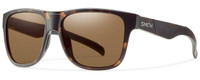 Smith Optics Lowdown XL Designer Sunglasses in Matte Tortoise with Polarized Brown Lens