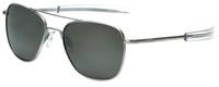 Randolph Designer Sunglasses Aviator AF156 in Matte Chrome with Polarized Gray Lens