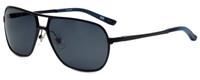 Argyleculture T-Bone Designer Polarized Sunglasses in Black with Grey Lens