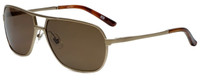 Argyleculture T-Bone Designer Polarized Sunglasses in Gold with Brown Lens