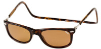 Clic Magnetic Sunglasses Ashbury in Tortoise w/ Amber Lens