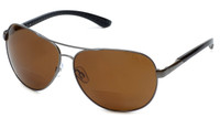 Grand Banks™ Polarized Bi-Focal Readers: 477BF in Gun-Metal & Amber