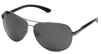 Grand Banks™ Polarized Bi-Focal Readers: 477BF in Gun-Metal & Grey