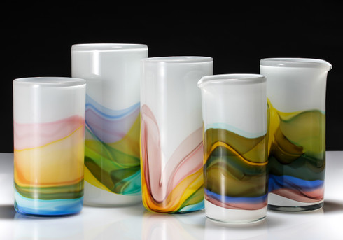 Watercolor Cylinder Vases
