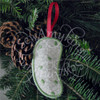 German pickle Christmas ornament machine embroidery ith in the hoop design money holder