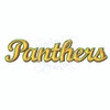 Panthers team name sports machine embroidery design
