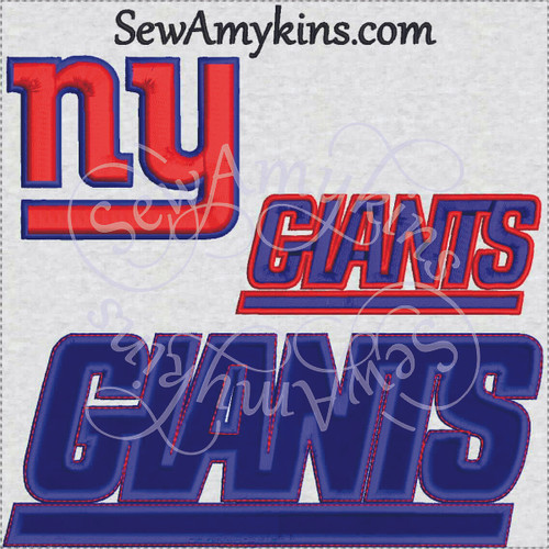 Ny Giants Embroidery Designs