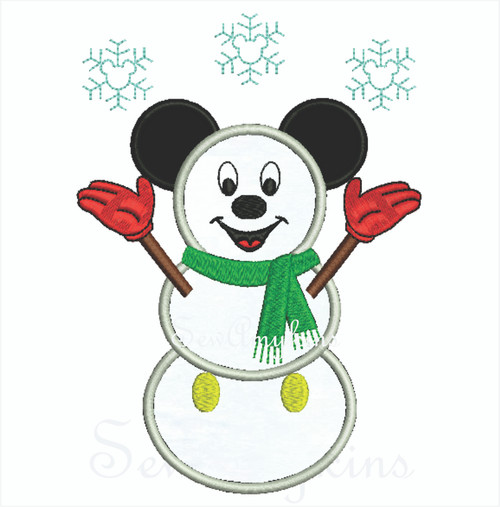 Mickey mouse save the bobbers applique machine embroidery