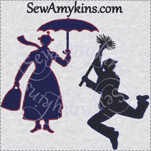Mary Poppins Chimney Sweep Silhouette Images Mary Poppins tape meas...