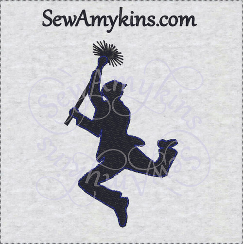 silhouette chimney sweep embroidery design mary poppins song lyrics fancy dress bert costume