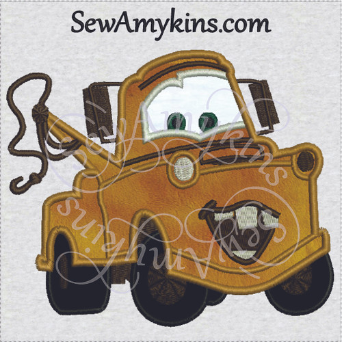 tow mater applique machine embroidery design truck towtruck Cars movie