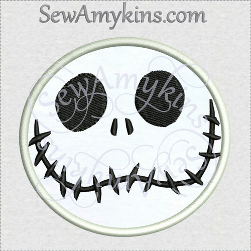 jack skellington happy skeleton nightmare face applique