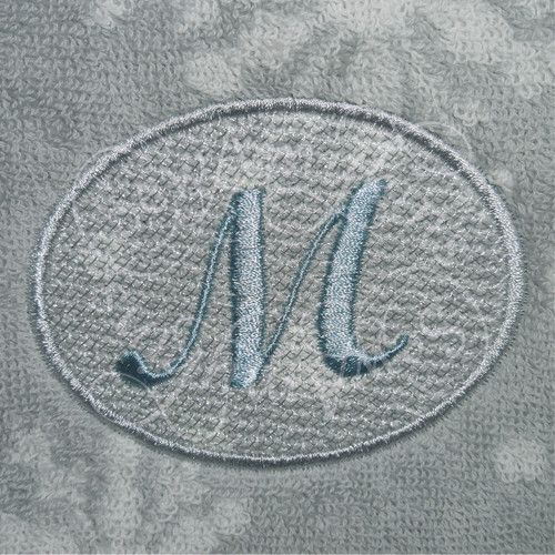 Round circle frame border for monograms or letters towel