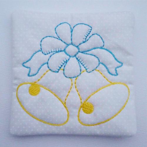 wedding bell ribbon applique ith in the hoop coaster mug rug machine embroidery design.jpg