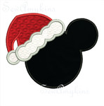 Mickey Santa applique