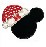 Minnie Santa applique