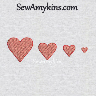 tiny simple embroidery heart hearts with outline stitch