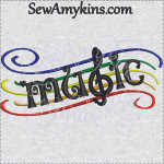 music staff word machine embroidery design in 2 sizes tiny heart accents treble g clef