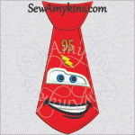 Lightning McQueen Tie applique car embroidery design machine embroidery sport race cars 95