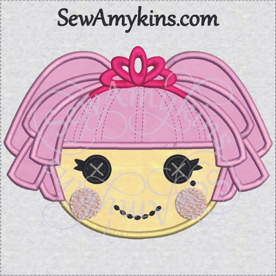 Lalaloopsy jewel sparkles applique doll face embroidery for Lalaloopsy jewel sparkle coloring pages