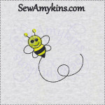 bee bumblebee embroidery design free