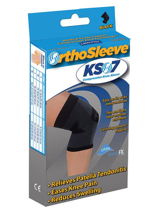 OrthoSleeve Knee Sleeve Black Packaging