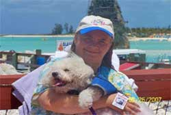 Summer Ann Stagg W/ Katheleen Stagg at Disney's Cast A Way Cay in the Bahamas.