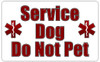 Service Dog Do Not Pet Card