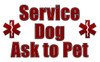 Service Dog Ask to Pet Vest Pocket Card
