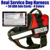 "barkOutfitters - Service Dog Vest - Sizes from 15"" - 46""girth - In Red, Blue, Pink and Purple - Plus 50 FREE ADA info cards (a $9.95 value!)"