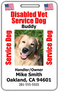 Disabled Veteran Service Dog ID Tag