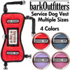 "barkOufitters ""Leader"" Service Dog Vest Harness - Available in 4 Colors and 5 Sizes"
