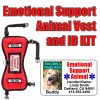 Emotional Support Animal ID Tag and Vest Set
