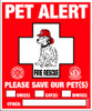Pet Alert Decals
