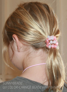 PINK COLOR CHANGE BRACELET  - USE AS HAIR BAND