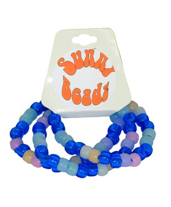 3 pack BLUE UV BRACELET with SUN