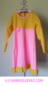 Pink and Yellow Sundress with Rose 50 UPF Age 4