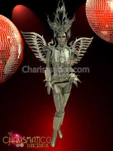 Full Mirror armor-styled costume set with matching headdress and wings
