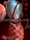 Checkered red and silver sequin pageant gown and matching backpack