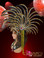 Brown accented silver and black glitter Mohawk headdress with rubies
