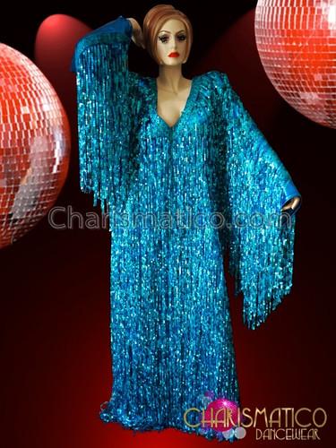 Blue Sequin Gown