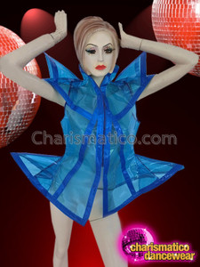 CHARISMATICO funky side Flirtatious Transparent blue jacket