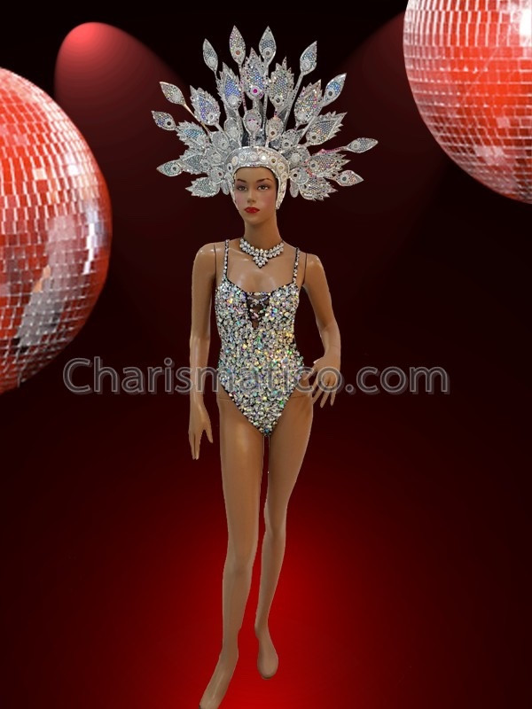 Iridescent Bead fringe vibrant pink showgirl's sexy Latin dance ...