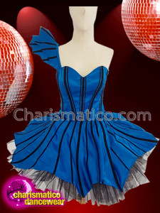 CHARISMATICO Amazing stunning royal blue dolly diva dress